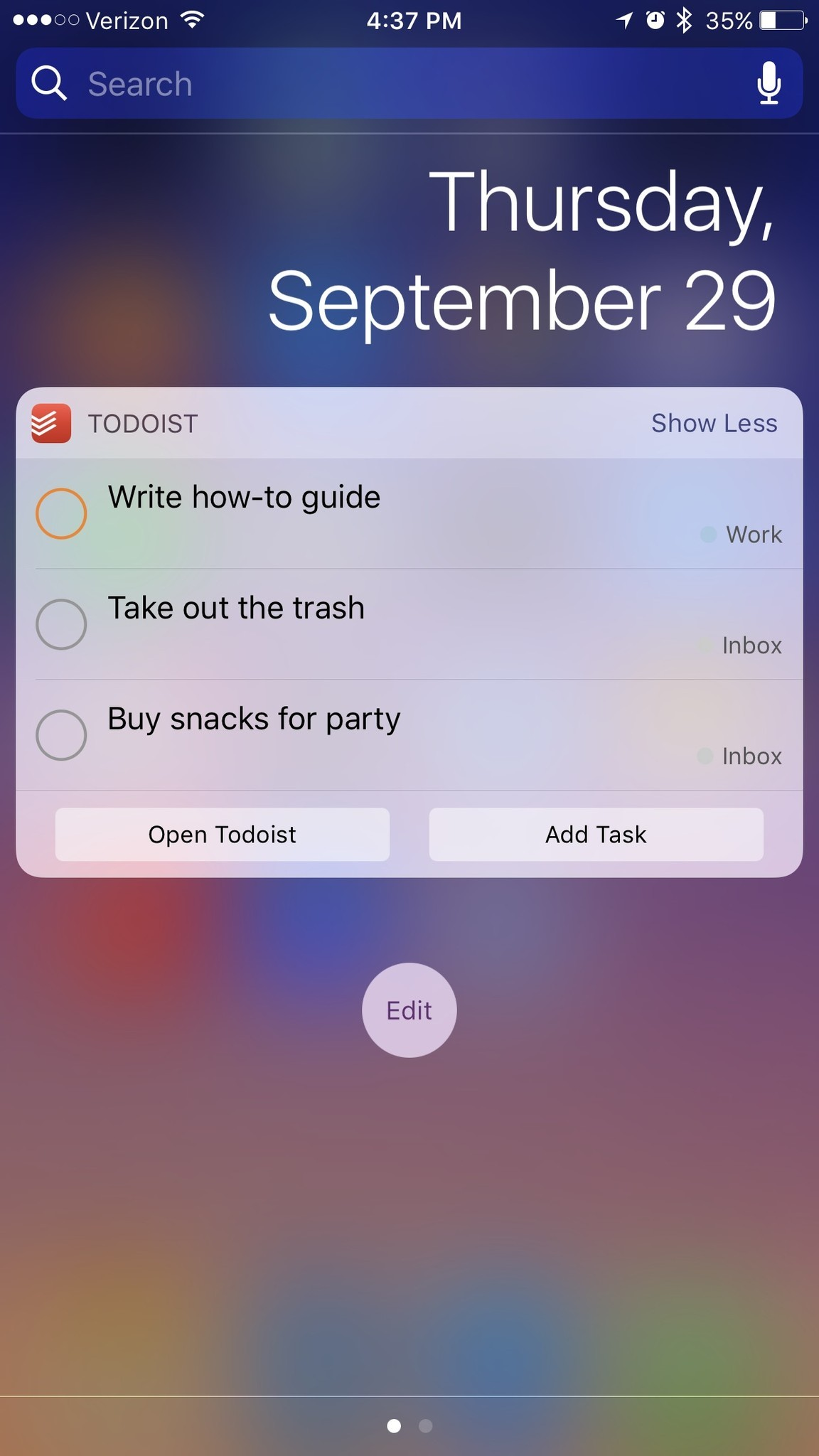 list makers take notice todoist has a new widget that lets you mark off your today tasks right from the lock screen so as you are going about your day