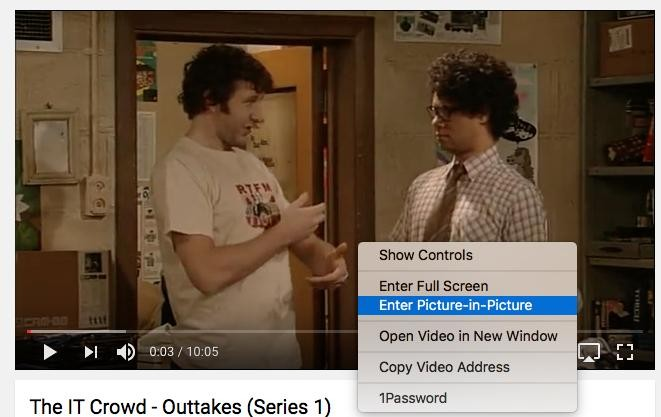 Picture-in-Picture on YouTube