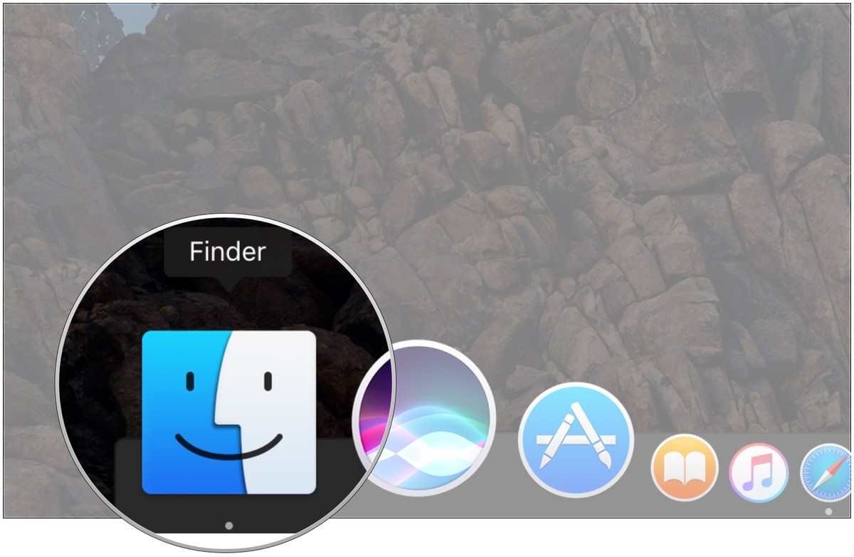 Click the Finder icon