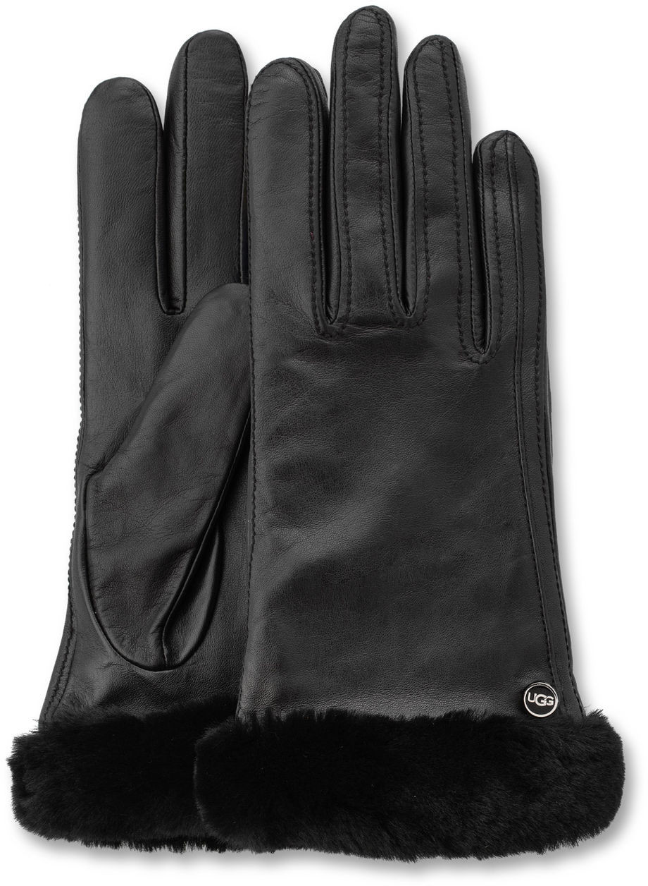 Womens Leather Smartphone Gloves - Ugg