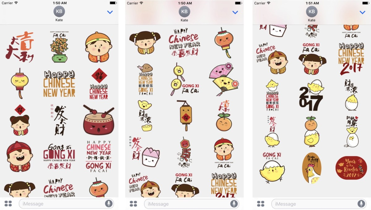 Happy Chines New Year Stickers