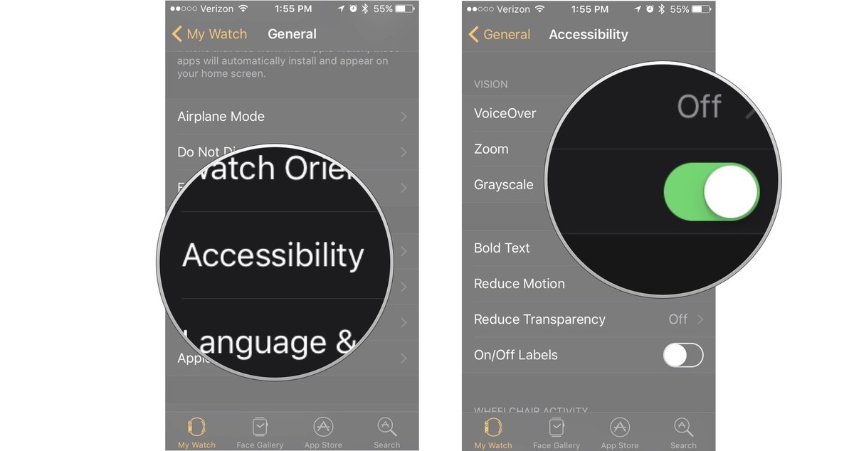 Tap Accessibility, then turn off Grayscale