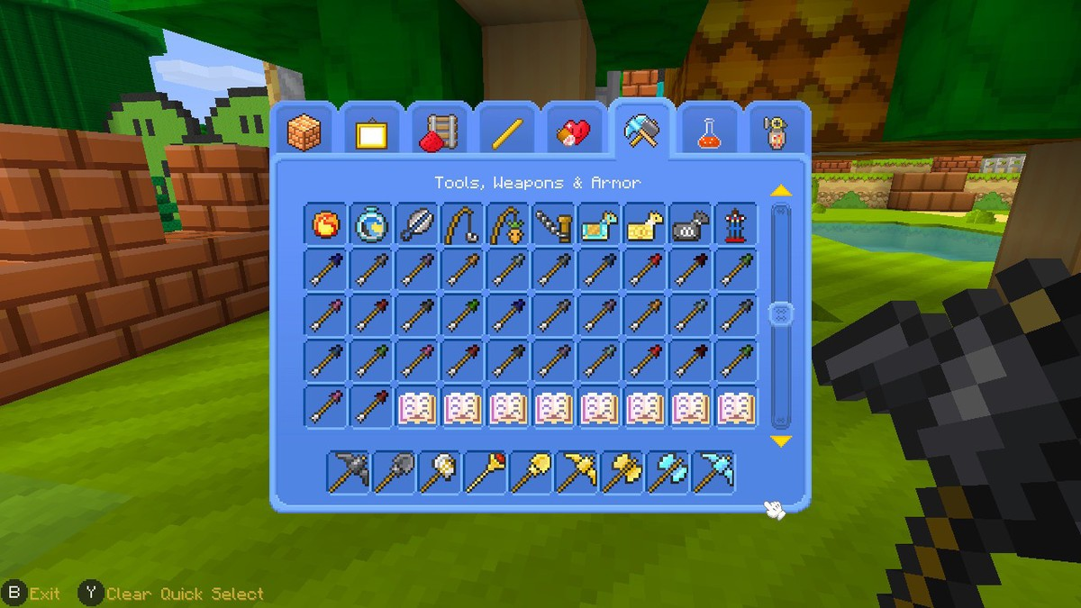 Bring tools with you from Creative mode to Adventure mode