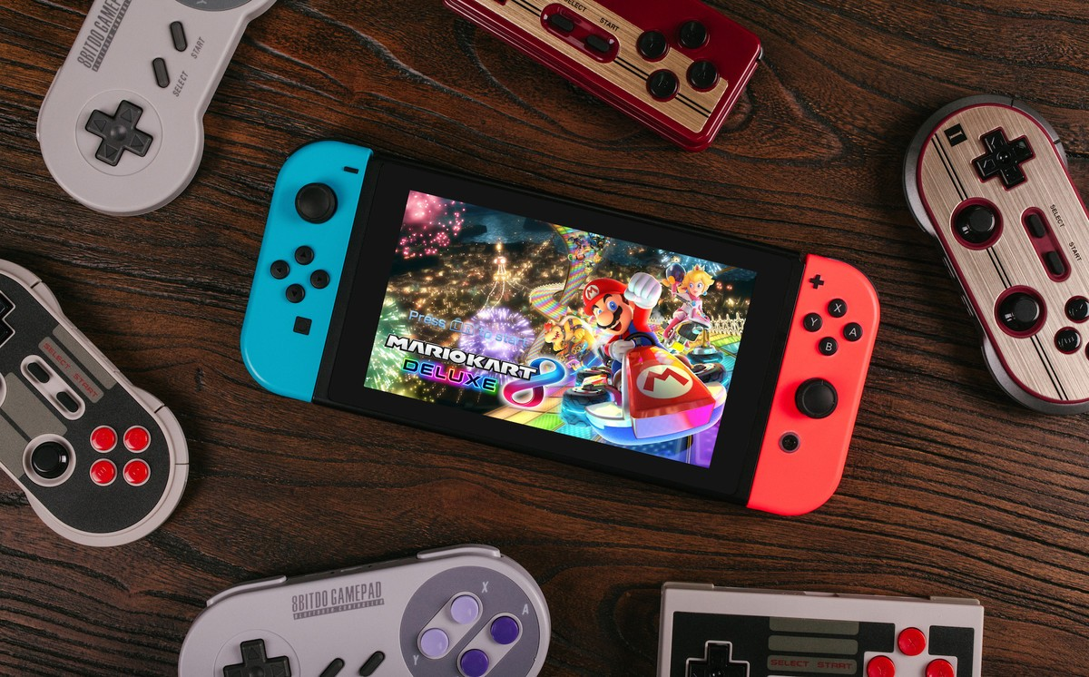 8Bitdo controllers with Nintendo Switch
