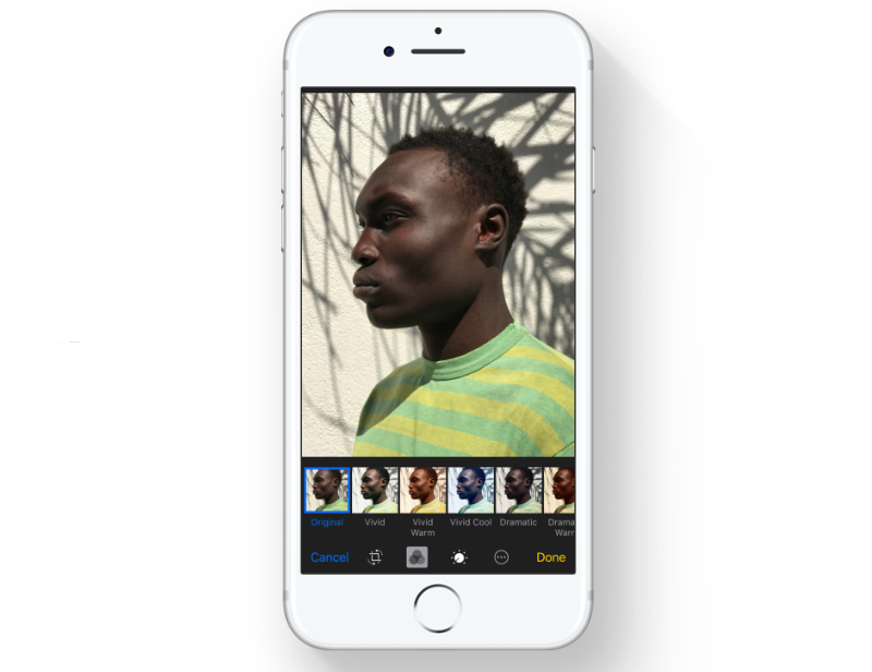 New Photos filters in iOS 11