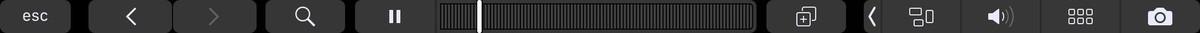 Tap Pause or Play on the Touch Bar