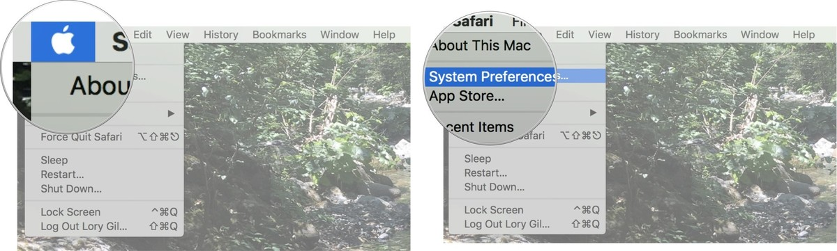 Click on the Apple logo, then click on System Preferences