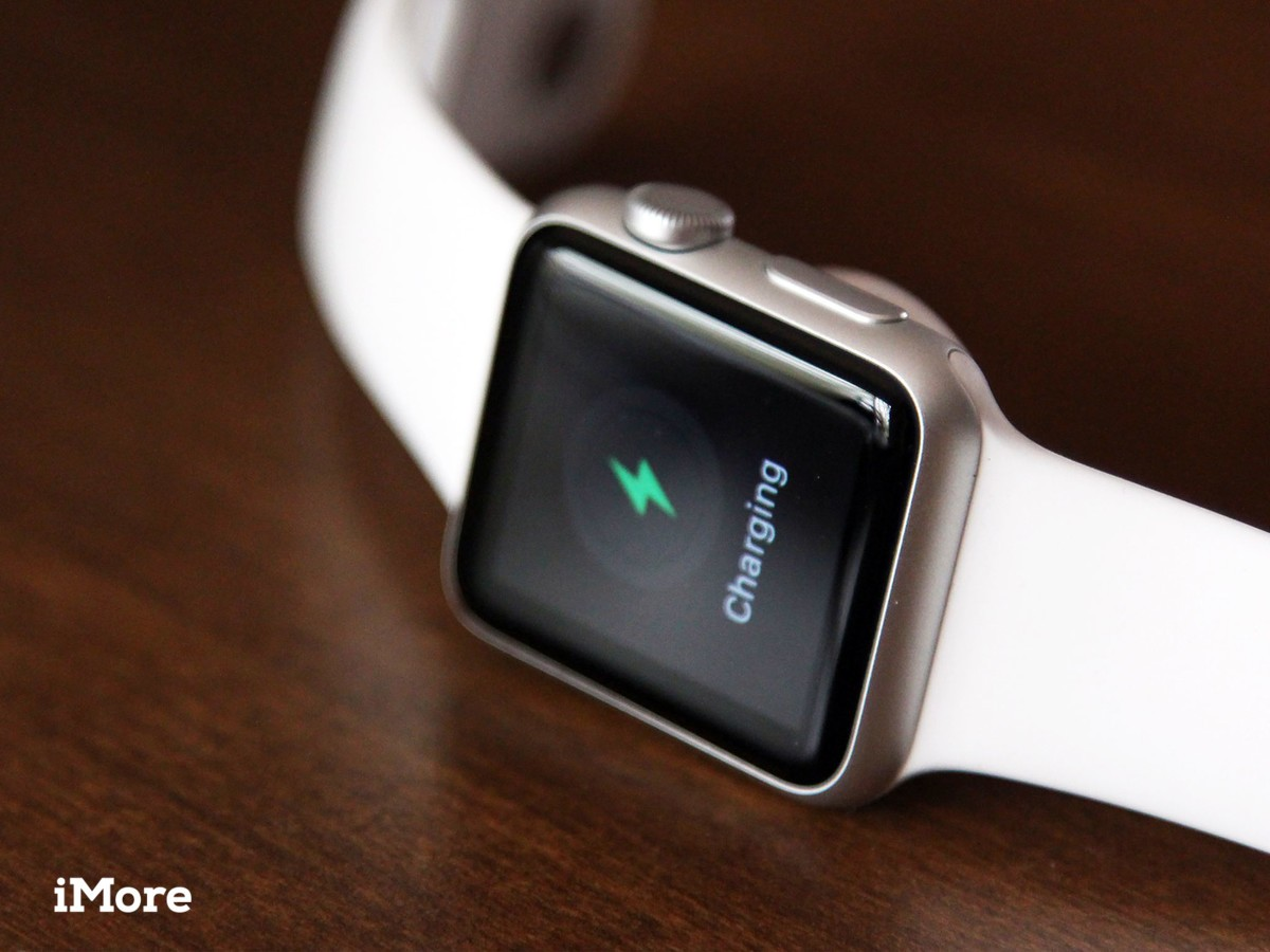 Apple Watch Sport on charger