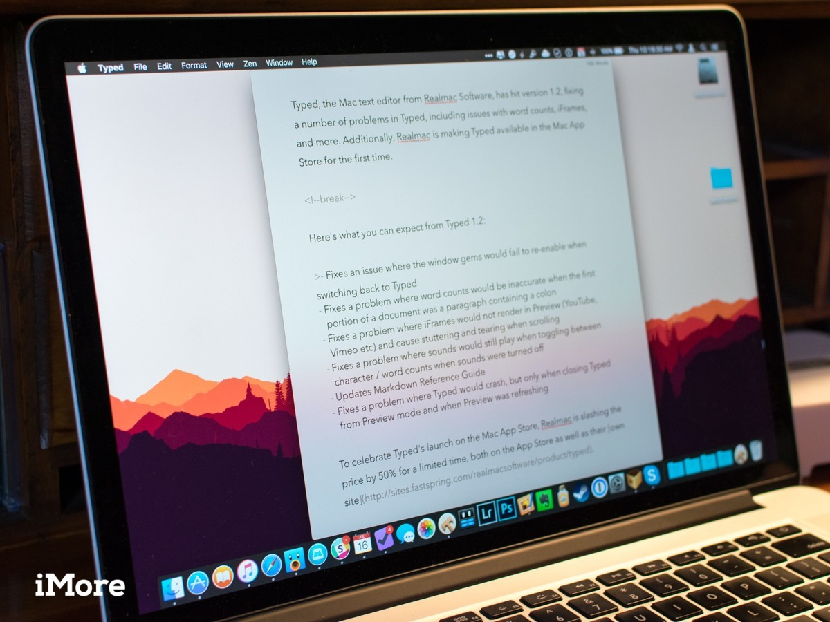 Realmac Software's Typed hits the Mac App Store, fixes several bugs