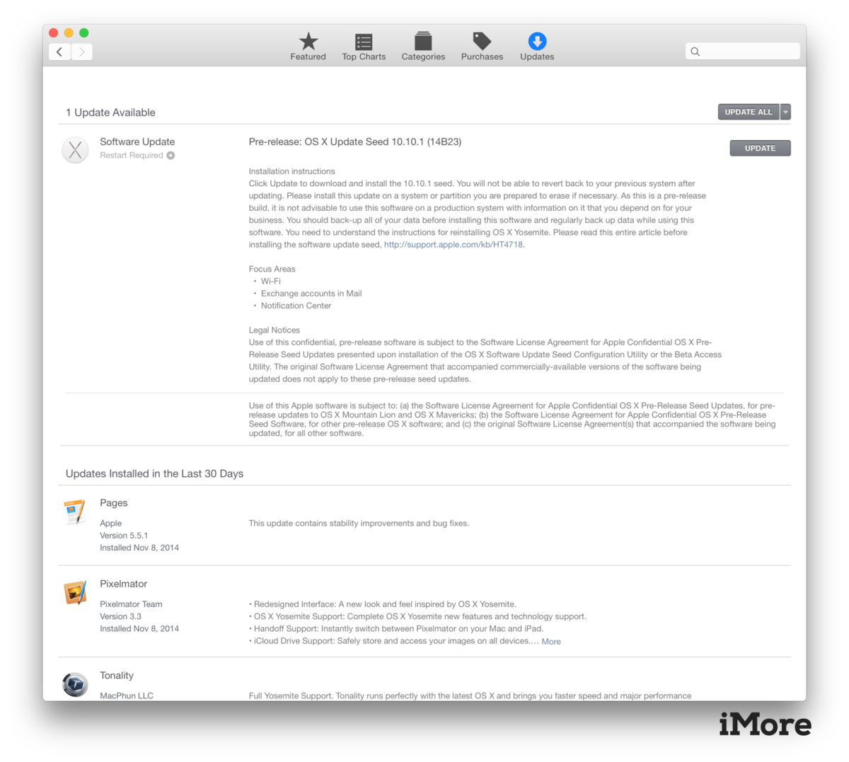 OS X Yosemite 10.10.1 beta grabs another update, available now