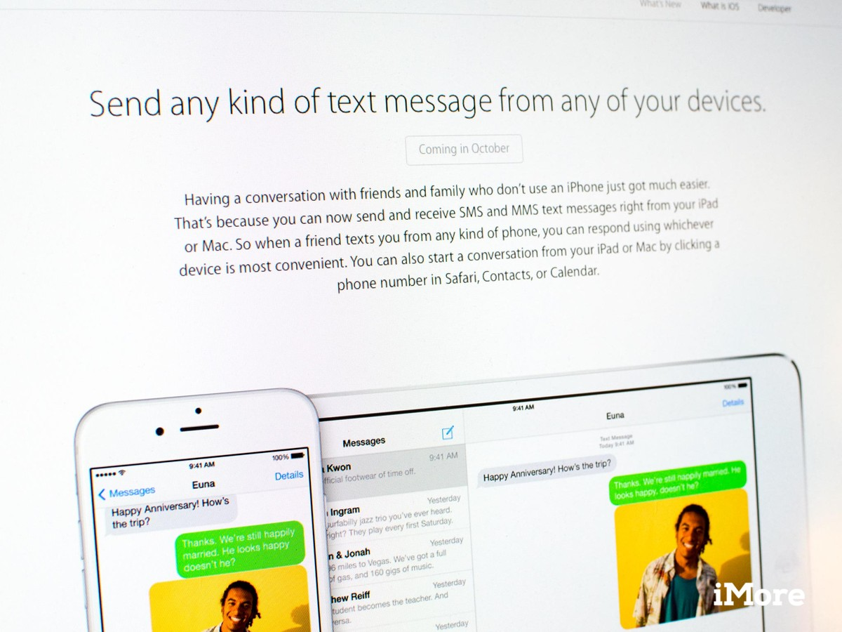iOS 8 SMS sharing between iOS devices will now arrive in October
