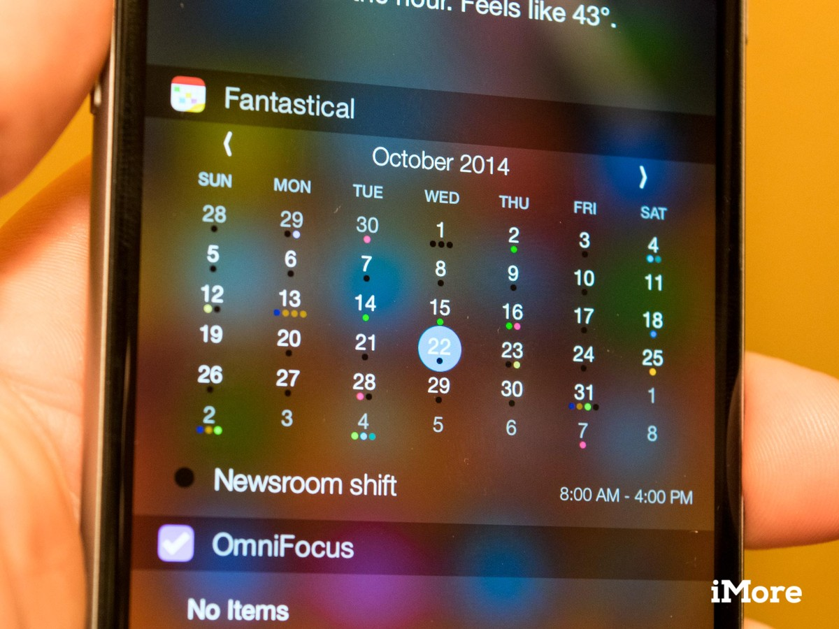 Fantastical for iPhone and iPad gets a widget, extension, and more!