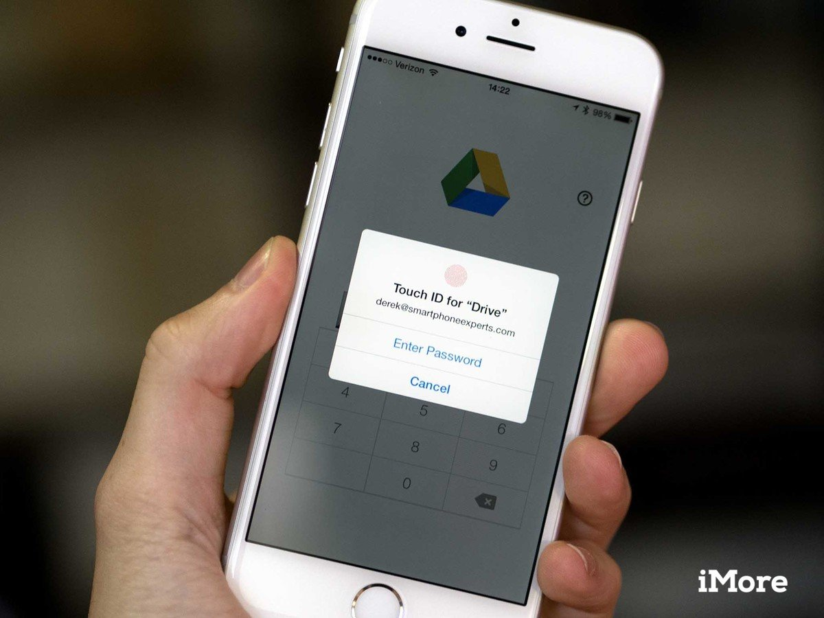Google Drive snags support for Touch ID, iOS 8