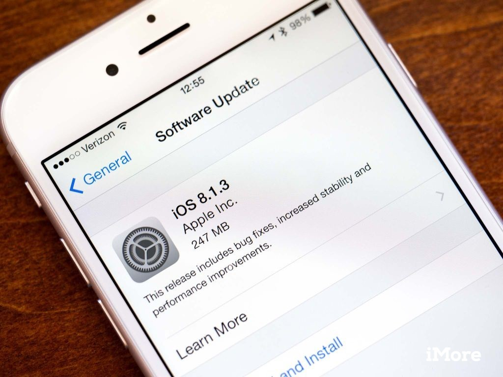 iOS 8.1.3 on the iPhone 6 Plus