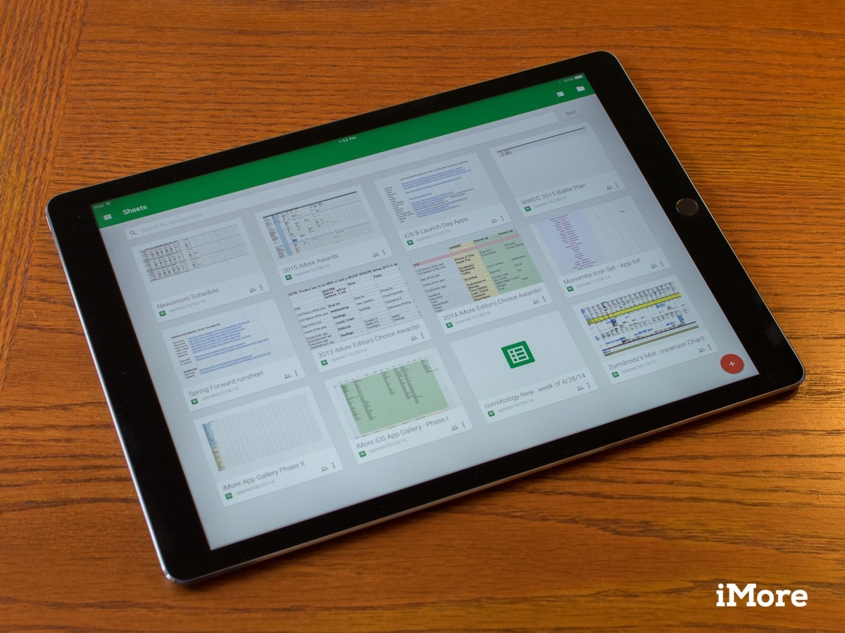 Google Docs and Sheets add iPad Pro support, but still no multitasking