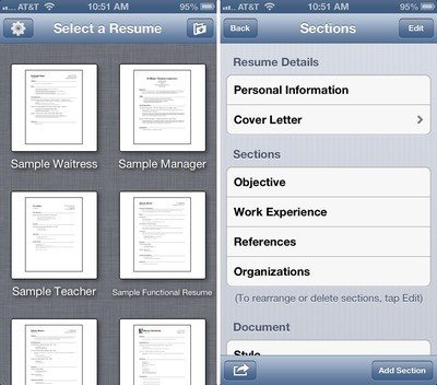 Resume Designer For IPhone And IPad Review: Create Good Looking Resumes On  The Go, No Computer Required!