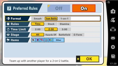 How does online multiplayer work in Super Smash Bros
