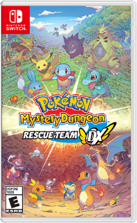 Pokemon Mystery Dungeon Rescue Team DX Switch box