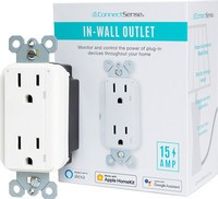 Connectsense Smart Inwall Outlet and packaging