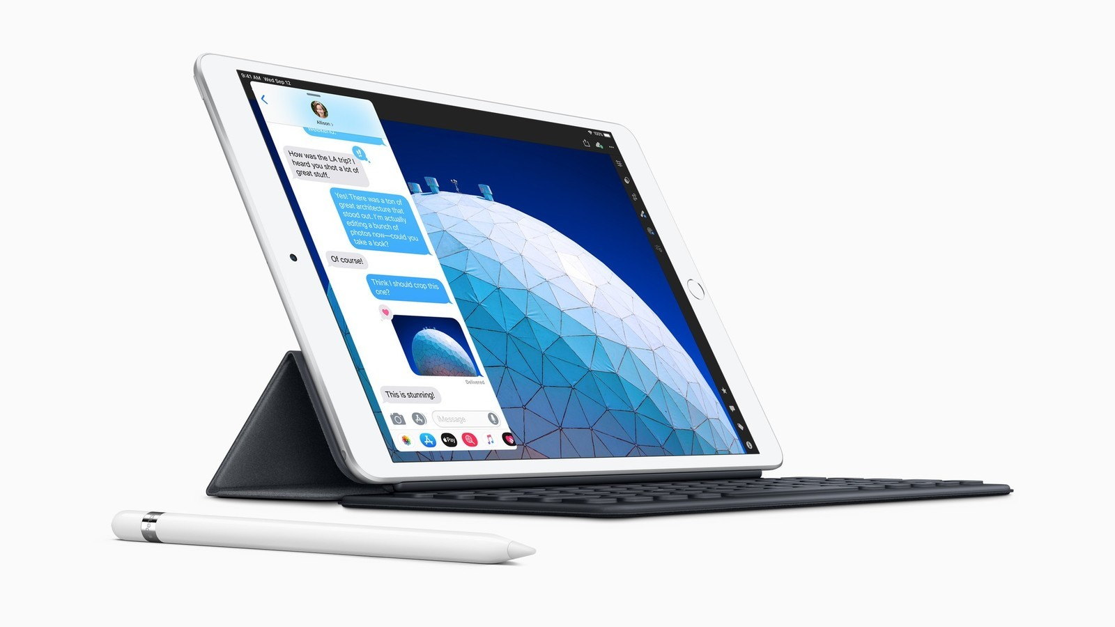 iPad Air (2019) wiht Apple Pencil and Smart Keyboard Case