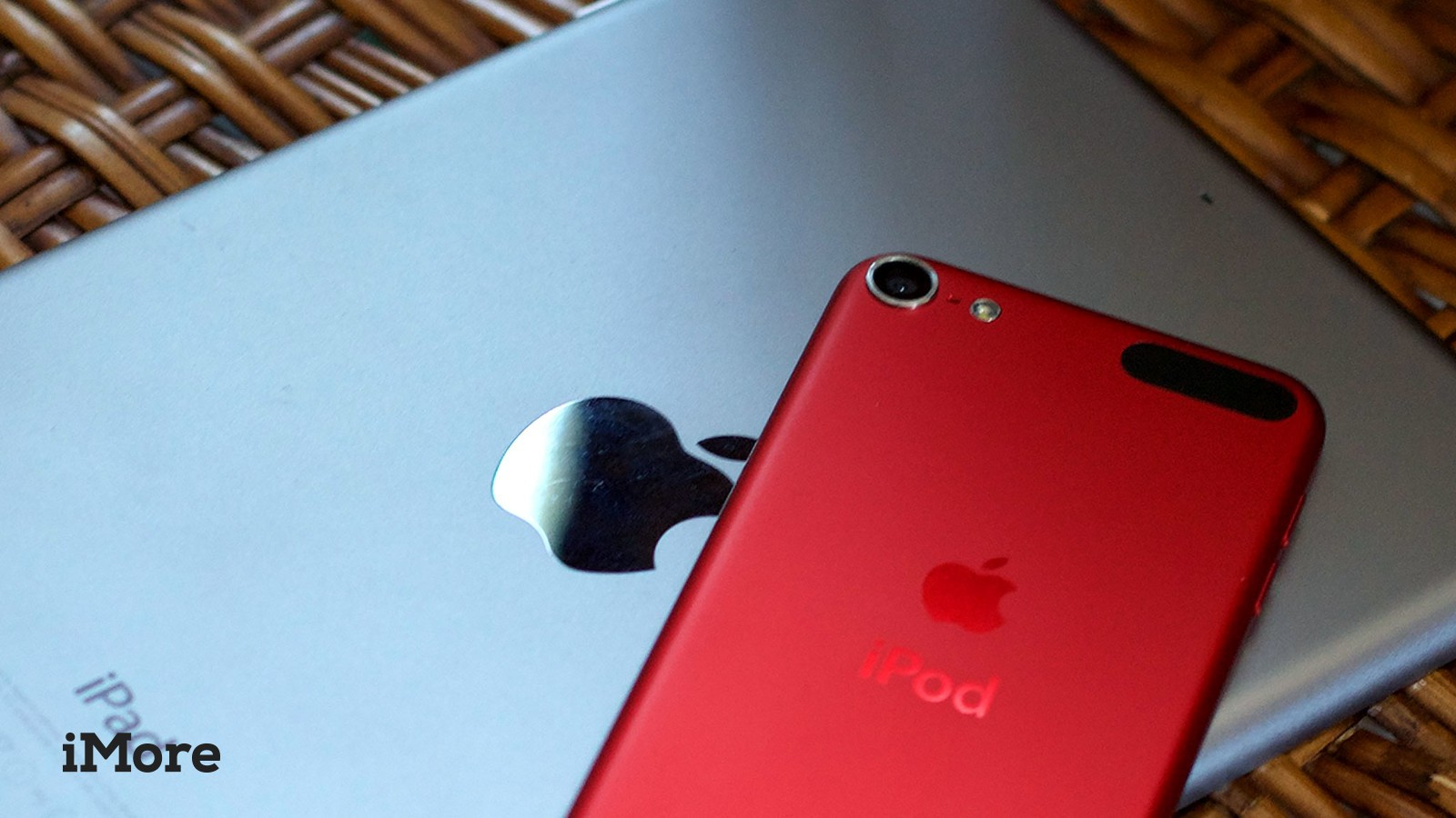 iPad mini 3 and red iPod touch