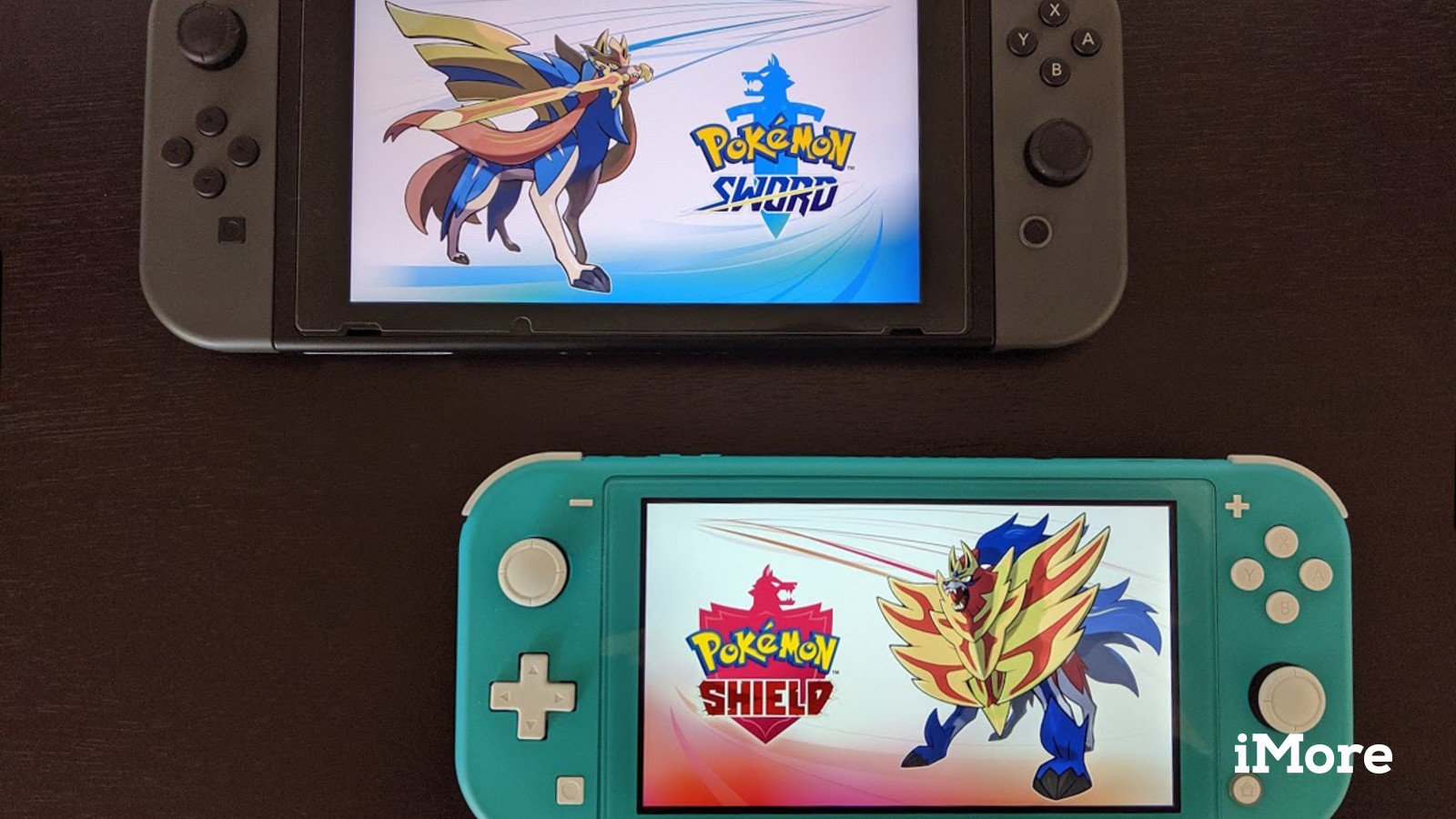 Nintendo Switch and Nintendo Switch Lite with Pokemon Sword and Shield