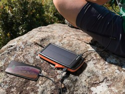 Recharge anywhere with RAVPower's 20000mAh Solar Power Bank at over 40% off