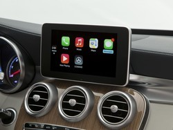 This is what CarPlay looks like for Mercedes-Benz