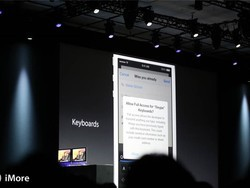 iOS 8 provides support for third-party keyboards