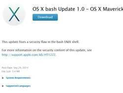 Apple helps prevent Shellshock on Macs with new bash update