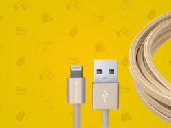 This Lightning cable has an aluminum housing and is just $15 today