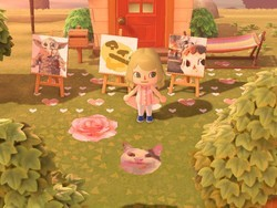 Animal Crossing players are putting all sorts of images into their islands