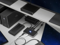 OWC's Thunderbolt Hub offers three TB ports and a USB-A port from one cable