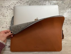 Protect your MacBook in luxurious style with Harber London's leather sleeve