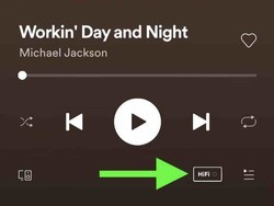 Some users are already seeing a HiFi icon in the Spotify app