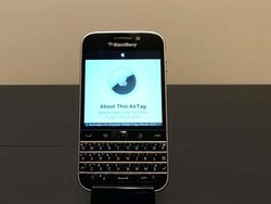 Yes, AirTags work with a 2014 BlackBerry...