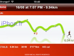 First Pictures of Nike+ on the iPhone