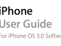 Apple Releases iPhone 3.0 User Guide PDF