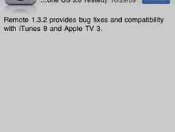 Apple Remote Updated to Support iTunes 9.0.2 and Apple TV 3.0
