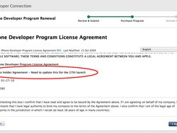 "iPhone Developer Program Licence Leaks! ""Need to update this for the 27th Launch"""