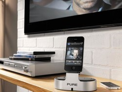 Pure i-20 iPhone / iPod dock, share audio and video with your TV
