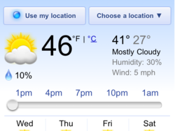 Google adds weather 'widget' to search