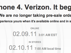 Verizon iPhone pre-orders sell out