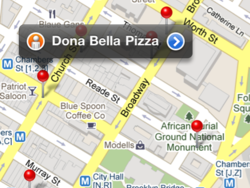 Daily Tip: Use Google maps to find the closest restaurant (or pizza!)