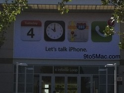 Apple puts up the banners for the Let's Talk iPhone event