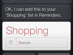 How to use Siri to maintain a shared shopping list