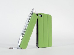 TidyTilt is a Smart Cover, kickstand, mount and earbud wrap for your iPhone 4 and iPhone 4S