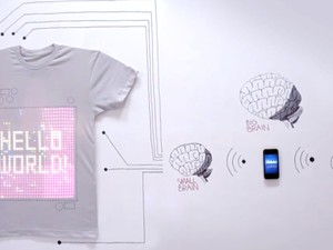 Meet tShirtOS, the first iPhone-controlled t-shirt with integrated washable display