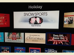Holiday app section shows up on Apple TV, turns out to be lump of coal
