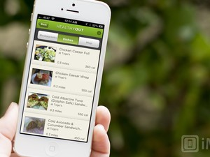 Discover healthy food when you eat out with HealthyOut for iPhone